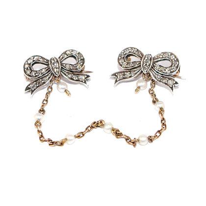 Victorian Diamond Scatter Brooch