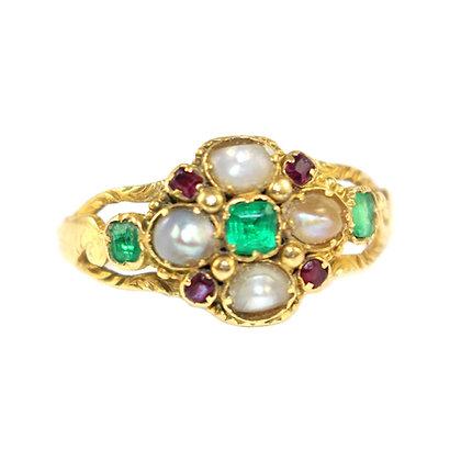 Georgian Pearl Ring