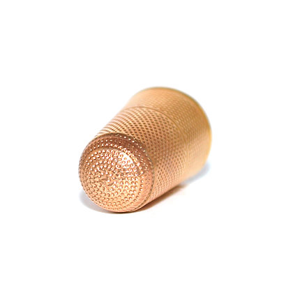 Norwegian 18ct Gold Thimble