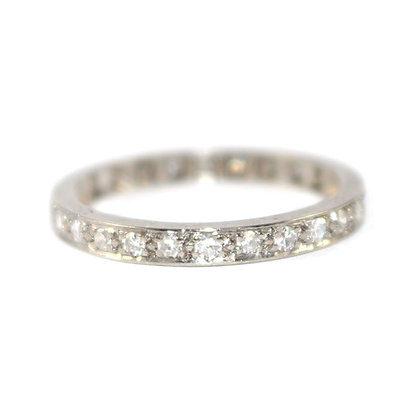 Art Deco Diamond Eternity Ring c.1940 size Q