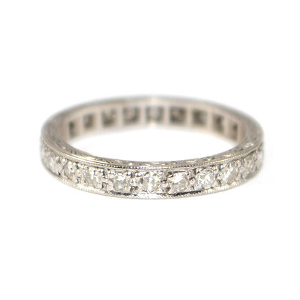 Art Deco Diamond Eternity Ring c.1935 size N