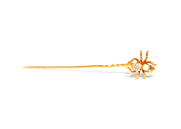 Victorian Diamond Spider Pin