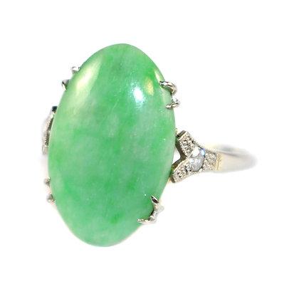 Art Deco Jade Ring