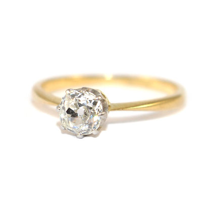 Edwardian Diamond Solitaire Ring