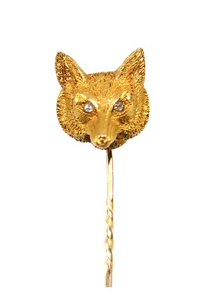 Edwardian Fox Stickpin