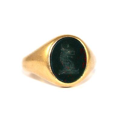 Bloodstone Seal Signet Ring