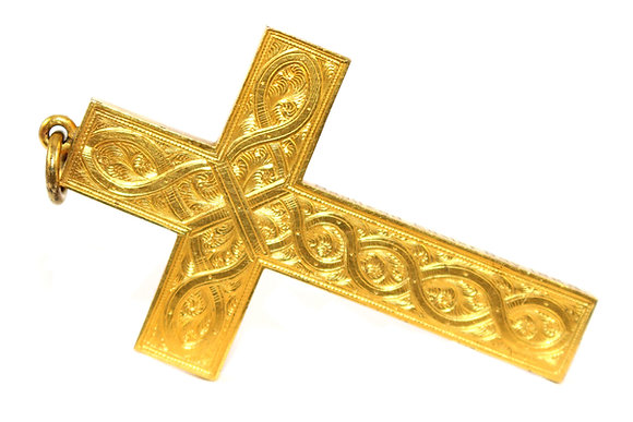 Victorian Gold Cross Pendant