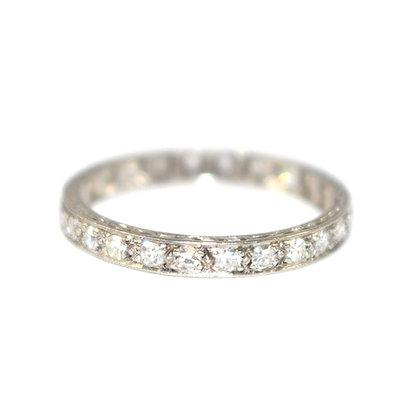Art Deco Diamond Eternity Ring c.1940 size P
