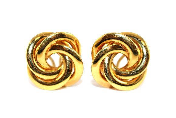 Vintage Gold Knot Earrings