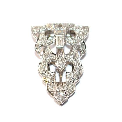 Art Deco Diamond Dress Clip c.1935