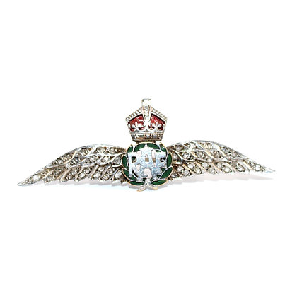 RAF Diamond Sweetheart Brooch c.1935