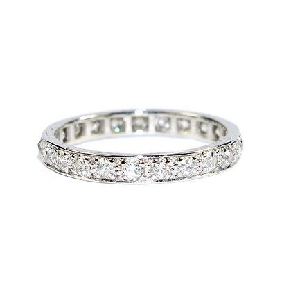 Art Deco Diamond Eternity Ring size 6.75