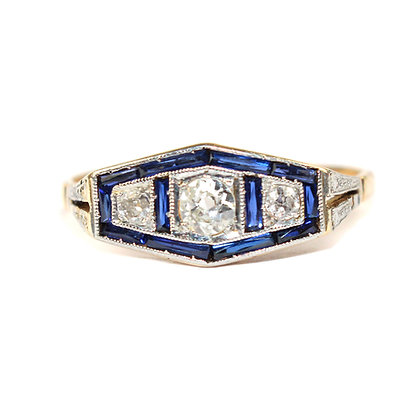 Art Deco Trilogy Ring