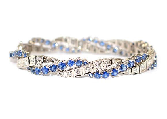 Sapphire & Diamond Bracelet c.1950