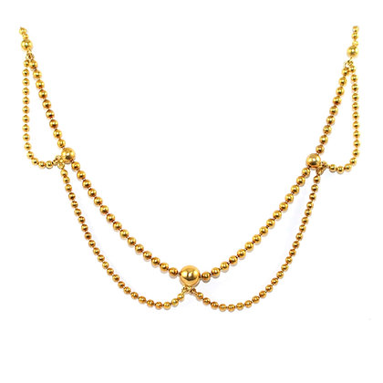 Victorian Gold Bead Necklace c.1880