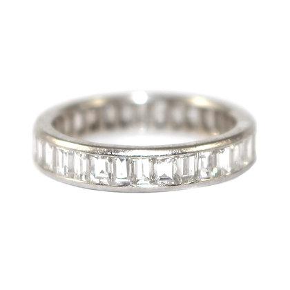 Art Deco Baguette Diamond Eternity Ring