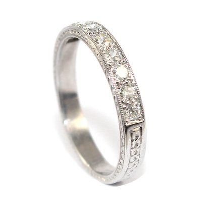 Art Deco Diamond Half Eternity Ring