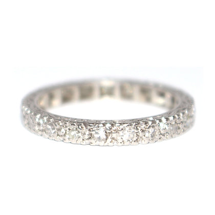 Diamond Eternity Ring Engraved Sides c.1960 size N