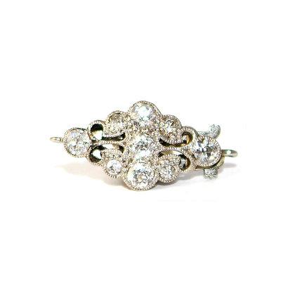 Edwardian Diamond Cluster Lozenge Clasp c.1920