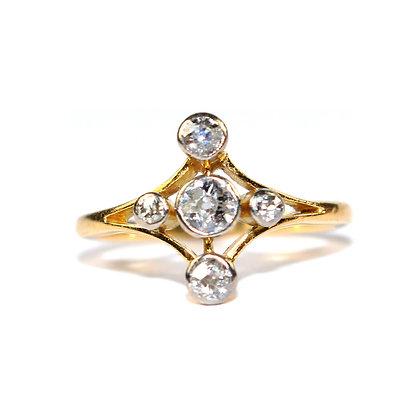 Edwardian Diamond 5 stone Ring c.1915