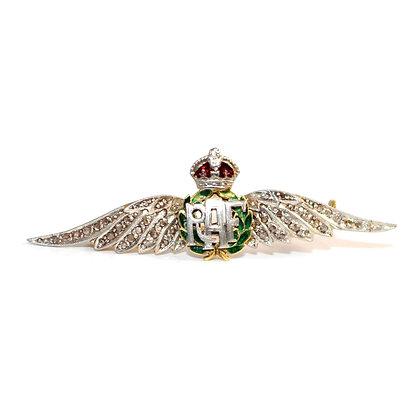 RAF Diamond Sweetheart Brooch