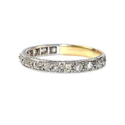 Art Deco Diamond 3/4 Eternity Ring c.1930 size L 1/2