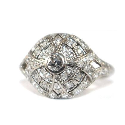 Art Deco Bombe Diamond Ring