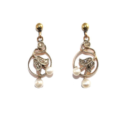 Antique Lily of the Valley Earrings