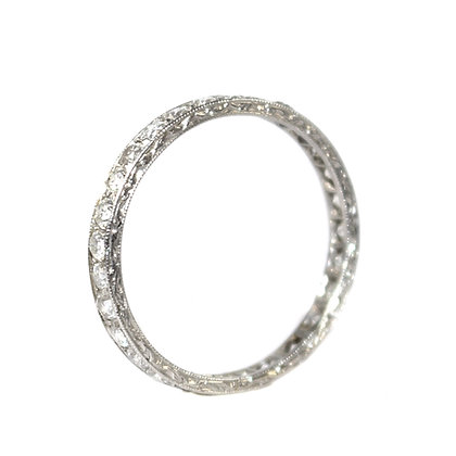 Art Deco Diamond Eternity Ring c.1935 size R