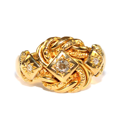 ANTIQUE GOLD KNOT RING