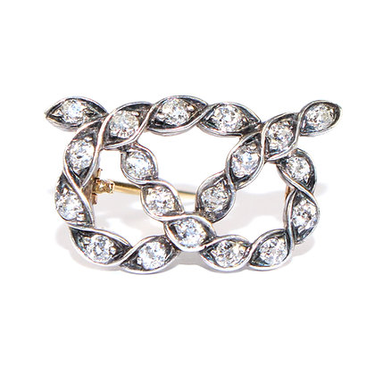 ANTIQUE DIAMOND STAFFORD KNOT BROOCH