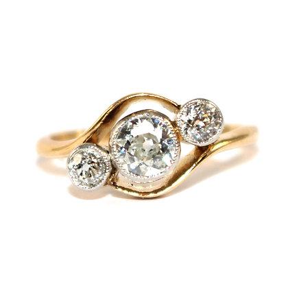Edwardian Diamond 3 Stone Ring