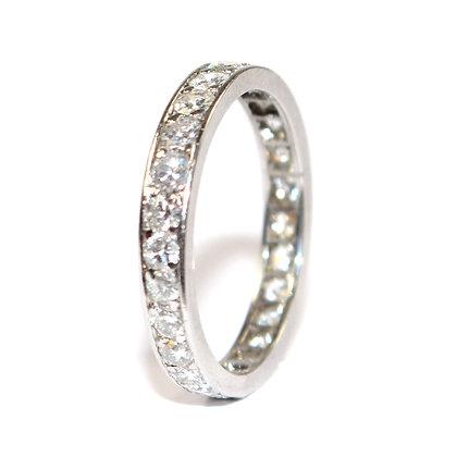 Art Deco Diamond Eternity Ring Size P