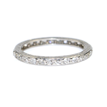 art deco diamond eternity ring