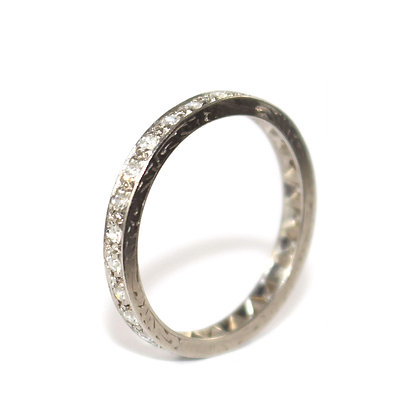 Art Deco Diamond Eternity Ring c.1940 size Q