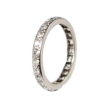 Mid Century Diamond Eternity Ring c.1945 size L