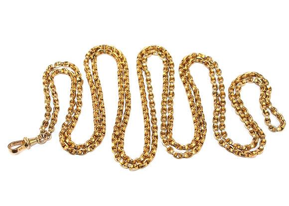 Victorian Gold Long Guard Chain Shrewsbury