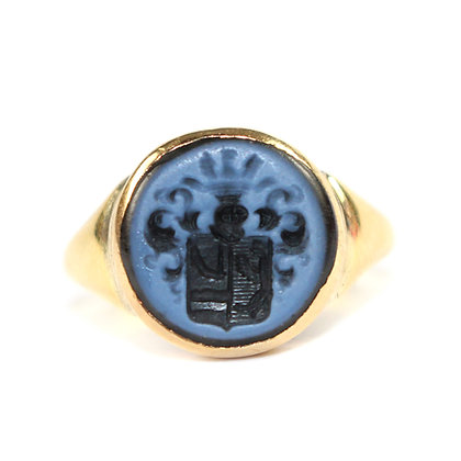 Banded Agate Signet Ring