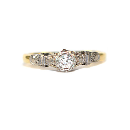 Diamond Solitaire Ring c.1950