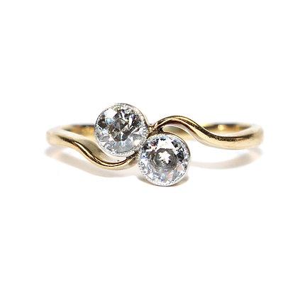 Art Deco Toi et Moi Diamond Ring