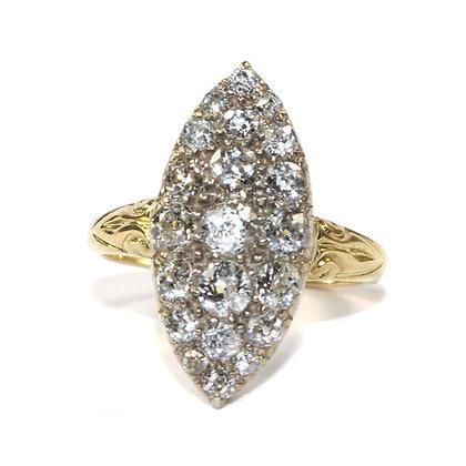 Victorian Navette Diamond Ring