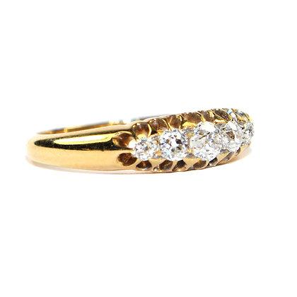Edwardian Diamond 5 Stone Ring