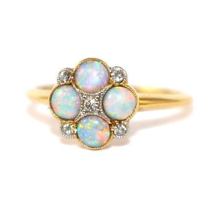 Edwardian Opal Diamond Ring