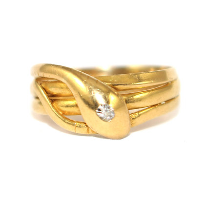Victorian Triple Coiled Snake Ring c.1899