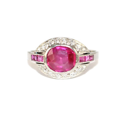 Art Deco Burma Ruby Ring