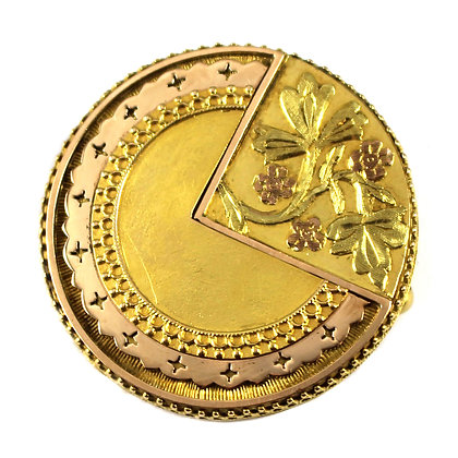 Victorian Gold Aesthetic Brooch