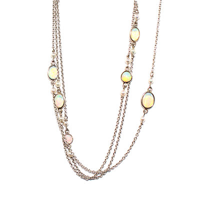 Art Deco Opal Chain c.1920