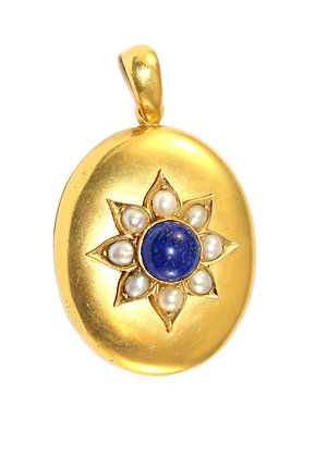 Victorian Lapis Locket