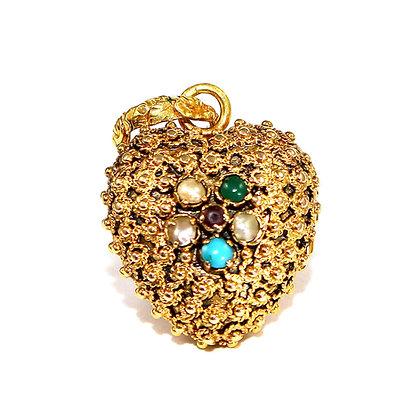 Georgian Antique Heart Locket Shropshire Antique Jewellers