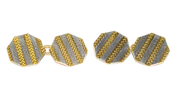 Art Deco Platinum Cufflinks